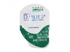 Focus Dailies Toric (90čoček) - Vzhled blistru s čočkou