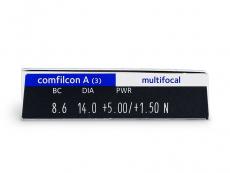 Biofinity Multifocal (3čočky) - Náhled parametrů čoček