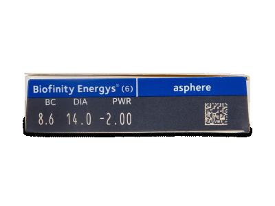 Biofinity Energys (6 čoček) - Náhled parametrů čoček