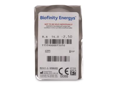 Biofinity Energys (6 čoček) - Vzhled blistru s čočkou