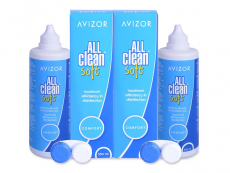 Roztoky na kontaktní čočky - čistící a dezinfekční oční roztoky - Roztok Avizor All Clean Soft 2x350 ml