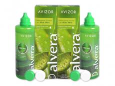Roztoky na kontaktní čočky - čistící a dezinfekční oční roztoky - Roztok Alvera 2 x 350 ml