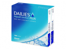 Jednodenní levné kontaktní čočky - Dailies AquaComfort Plus (180čoček)