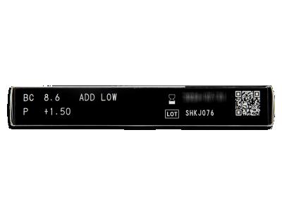 Miru 1 Month Menicon Multifocal (6 čoček) - Náhled parametrů čoček