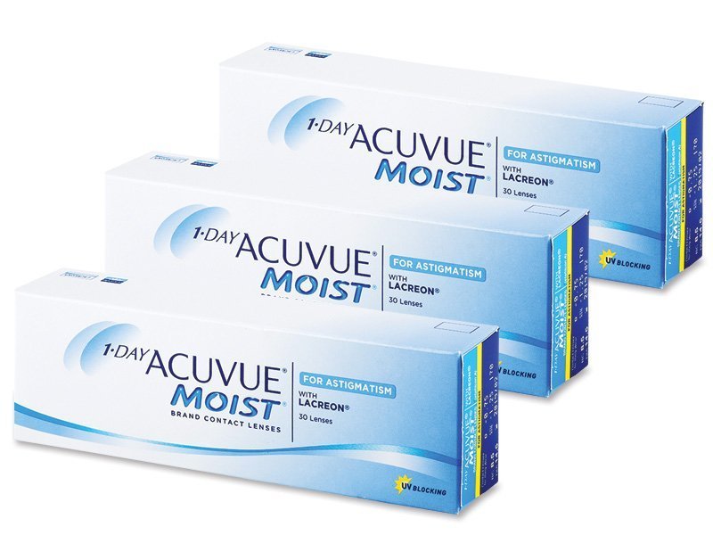 1 Day Acuvue Moist for Astigmatism (90čoček) - Torické kontaktní čočky