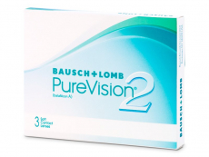 Měsíční levné kontaktní čočky - PureVision 2 (3čočky)