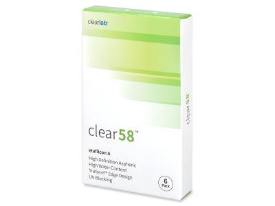 Clear 58 (6čoček) - Čtrnáctidenní kontaktní čočky