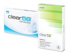 Měsíční levné kontaktní čočky - Clear 58 (6čoček)