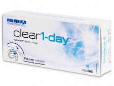 Jednodenní levné kontaktní čočky - Clear 1-Day (30čoček)