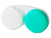 Pouzdro na čočky zeleno-bílé se znakem