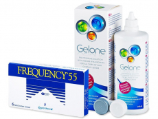 Frequency 55 (6 čoček) + roztok Gelone 360ml