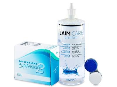 PureVision 2 (6 čoček) +roztokLaim Care400ml