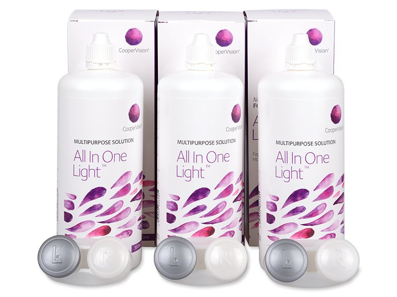 Roztok All in One Light 3x360 ml
