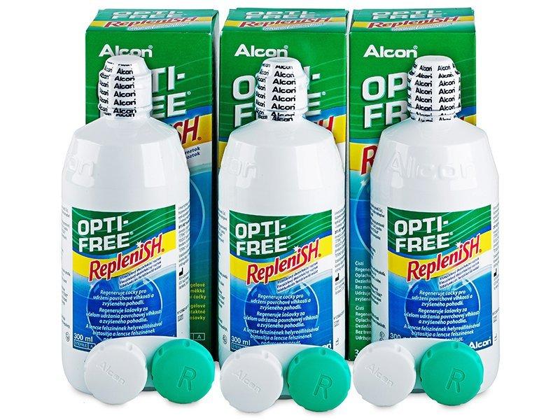 Roztok OPTI-FREE RepleniSH 3x300ml  - Výhodné trojbalení roztoku