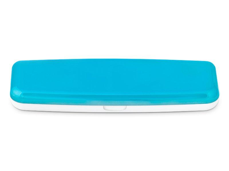 Pevné pouzdro na jednodenní čočky - modré  - Pevné pouzdro na jednodenní čočky - modré