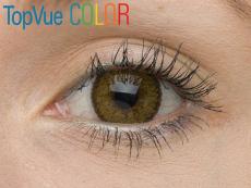 TopVue Color - nedioptrické (2čočky) - Hazel na hnědém oku