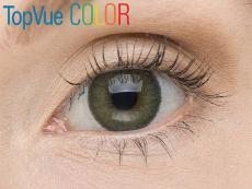 TopVue Color - nedioptrické (2čočky) - Green na hnědém oku