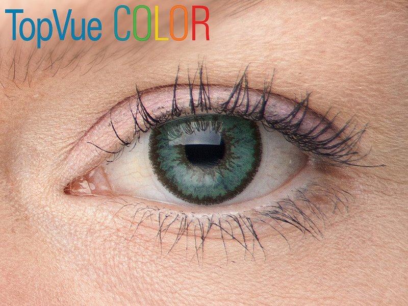 TopVue Color - nedioptrické (2čočky) - Green na modrém oku