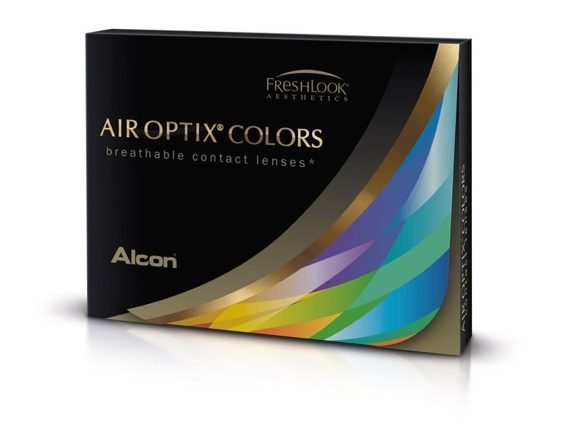Air Optix Colors - Sterling Gray - nedioptrické (2 čočky)