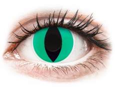 Zelené kontaktní čočky - nedioptrické - ColourVUE Crazy Lens - Anaconda - nedioptrické (2 čočky)