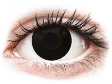 Černé kontaktní čočky - nedioptrické - ColourVUE Crazy Lens - BlackOut - nedioptrické (2 čočky)