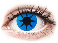 Barevné kontaktní čočky - nedioptrické - ColourVUE Crazy Lens - Blue Star - nedioptrické (2 čočky)