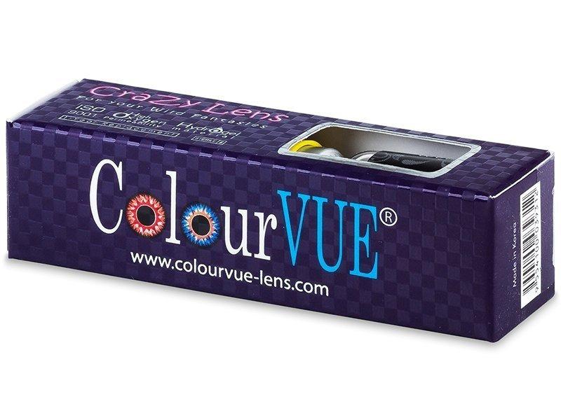 ColourVUE Crazy Lens - Blue Star - nedioptrické (2 čočky)