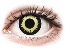 Černé kontaktní čočky - nedioptrické - ColourVUE Crazy Lens - Eclipse - nedioptrické (2 čočky)