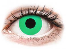 Barevné kontaktní čočky - nedioptrické - ColourVUE Crazy Lens - Emerald (Green) - nedioptrické (2 čočky)
