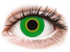Zelené kontaktní čočky - nedioptrické - ColourVUE Crazy Lens - Hulk Green - nedioptrické (2 čočky)