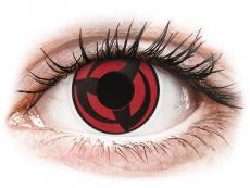 Černé kontaktní čočky - nedioptrické - ColourVUE Crazy Lens - Kakashi - nedioptrické (2 čočky)