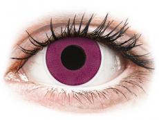 Fialové kontaktní čočky - nedioptrické - ColourVUE Crazy Lens - Purple - nedioptrické (2 čočky)