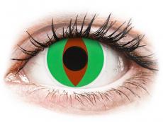 Zelené kontaktní čočky - nedioptrické - ColourVUE Crazy Lens - Raptor - nedioptrické (2 čočky)