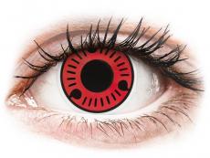 Červené kontaktní čočky - nedioptrické - ColourVUE Crazy Lens - Sasuke - nedioptrické (2 čočky)