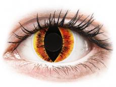 Žluté kontaktní čočky - nedioptrické - ColourVUE Crazy Lens - Saurons Eye - nedioptrické (2 čočky)