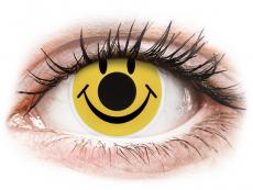 Žluté kontaktní čočky - nedioptrické - ColourVUE Crazy Lens - Smiley - nedioptrické (2 čočky)