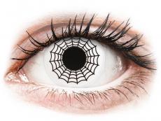 Bílé kontaktní čočky - nedioptrické - ColourVUE Crazy Lens - Spider - nedioptrické (2 čočky)