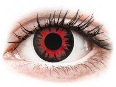 Červené kontaktní čočky - nedioptrické - ColourVUE Crazy Lens - Volturi - nedioptrické (2 čočky)