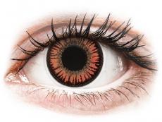 Červené kontaktní čočky - nedioptrické - ColourVUE Crazy Lens - Vampire - nedioptrické (2 čočky)