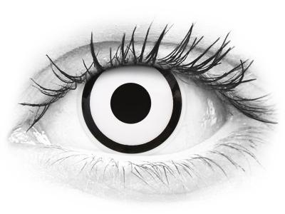 ColourVUE Crazy Lens - White Zombie - nedioptrické (2 čočky)