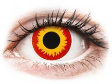 Červené kontaktní čočky - nedioptrické - ColourVUE Crazy Lens - Wildfire - nedioptrické (2 čočky)