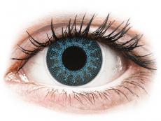 Barevné kontaktní čočky - dioptrické - ColourVUE Crazy Lens - Solar Blue - dioptrické (2 čočky)