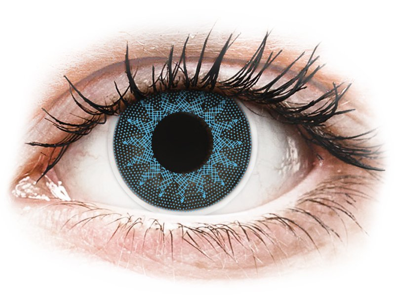 ColourVUE Crazy Lens - dioptrické (2 čočky) Solar Blue