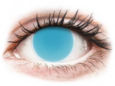 Kontaktní čočky Maxvue Vision - ColourVUE Crazy Glow Electric Blue - nedioptrické (2čočky)