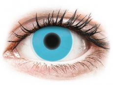 Kontaktní čočky Maxvue Vision - ColourVUE Crazy Glow Blue - nedioptrické (2čočky)
