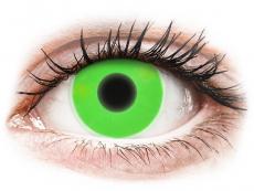 Barevné kontaktní čočky - nedioptrické - ColourVUE Crazy Glow Green - nedioptrické (2čočky)