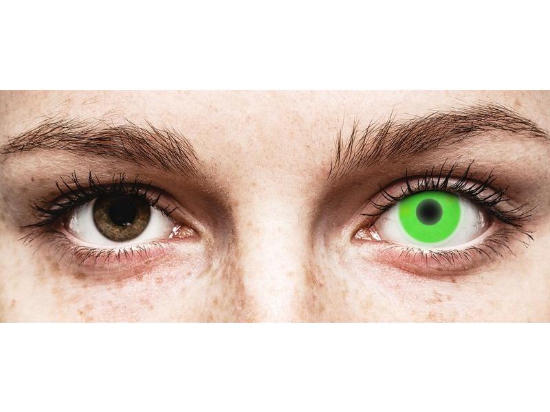 ColourVUE Crazy Glow Green - nedioptrické (2čočky) - ColourVUE Crazy Glow Green - nedioptrické (2čočky)