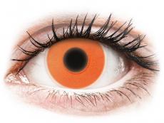 Barevné kontaktní čočky - nedioptrické - ColourVUE Crazy Glow Orange - nedioptrické (2čočky)