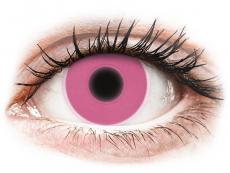 Růžové kontaktní čočky - nedioptrické - ColourVUE Crazy Glow Pink - nedioptrické (2čočky)