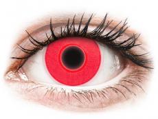 Barevné kontaktní čočky - nedioptrické - ColourVUE Crazy Glow Red - nedioptrické (2čočky)